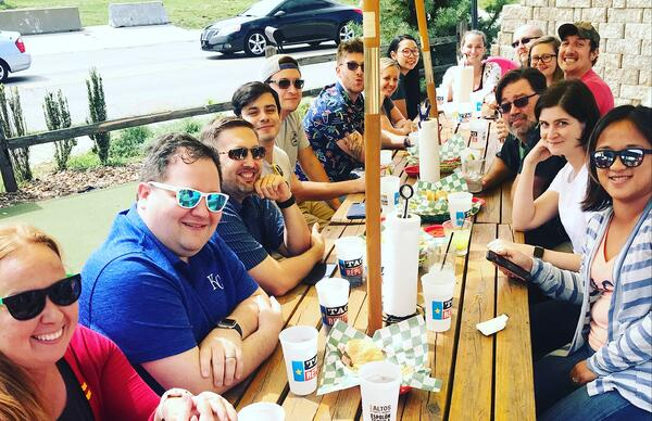 Team Lunch at Taco Republic in KC - Sept 2019